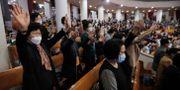 Gudstjänst i Sydkoreas huvudstad Seoul igår. Ahn Young-joon / TT NYHETSBYRÅN