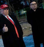 """Donald Trump"" och ""Kim Jong-Un"". BRENDAN SMIALOWSKI / AFP"