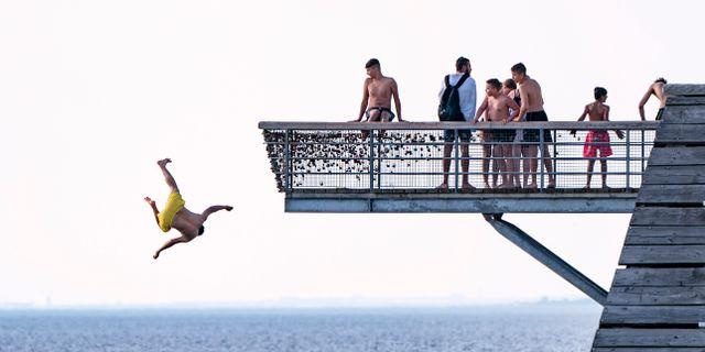 Sommarbad i Malmö i juni i år. Johan Nilsson/TT / TT NYHETSBYRÅN