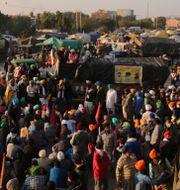 Bild från protestmarschen.  Altaf Qadri / TT NYHETSBYRÅN