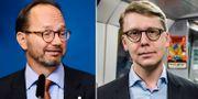 Tomas Eneroth (S) och Kristoffer Tamsons (M). TT