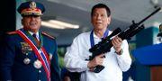 Ronald dela Rosa och Rodrigo Dutertes. Bullit Marquez / TT NYHETSBYRÅN/ NTB Scanpix
