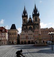 Torg i Prag, Tjeckien. Petr David Josek / TT NYHETSBYRÅN