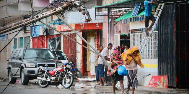 Översvämningar i Beira. ADRIEN BARBIER / AFP