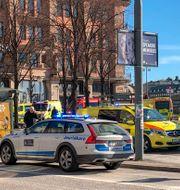 Insats i samband med bussexplosionen. Tomas Bengtsson/TT / TT NYHETSBYRÅN