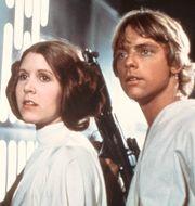 Carrie Fisher och Mark Hamill som Leia och Luke, 1976. Anonymous / TT / NTB Scanpix