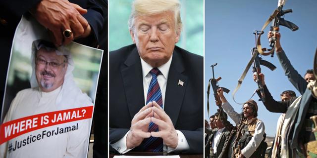 Arkivbilder. Khashoggi, Trump, Huthirebeller i Jemen. TT