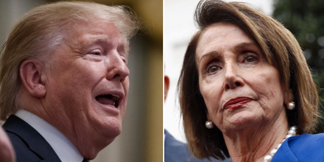 Donald Trump / Nancy Pelosi. TT