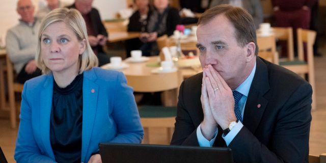 Statsminister Stefan Löfven (S) och finansminister Magdalena Andersson (S). Jessica Gow/TT / TT NYHETSBYRÅN