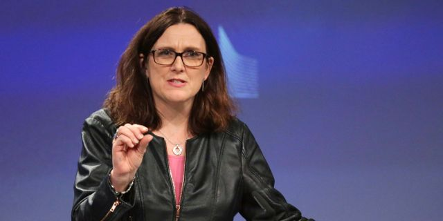 EU:s handelskommissionär Cecilia Malmström.  ARIS OIKONOMOU / AFP