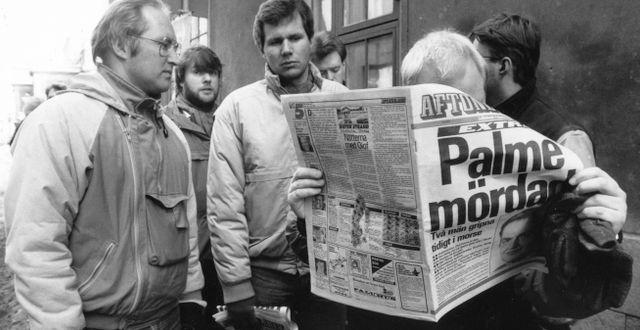Dagen efter mordet på Olof Palme. Lars Strömberg / TT / TT NYHETSBYRÅN
