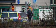 Polisinsats på platsen. Adam Ihse/TT / TT NYHETSBYRÅN