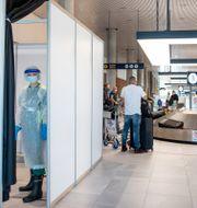 Teststation på Bergens flygplats. Eivind Senneset / TT NYHETSBYRÅN