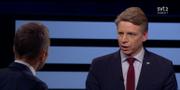 Per Bolund (MP) i Agenda. SVT