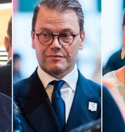 Stefan Holm/prins Daniel och kronprinsessan Victoria efter Stockholm-Åres förlust. Bildbyrån