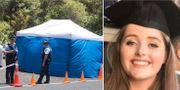 Polisen vid den misstänkta brottsplatsen/Grace Millane  TT/Lucie Blackman Trust