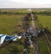 Flygplanet kraschade på ett fält i närheten av Brookshire i Texas Godofredo A. Vásquez / TT NYHETSBYRÅN