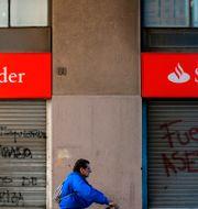 En stängd bank i Chile.  PABLO VERA / AFP