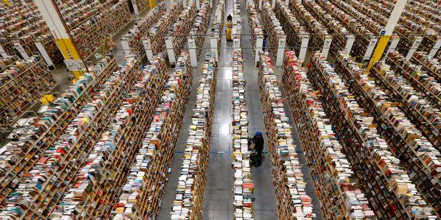 Amazons lager i Phoenix.  Ross D. Franklin / TT NYHETSBYRÅN