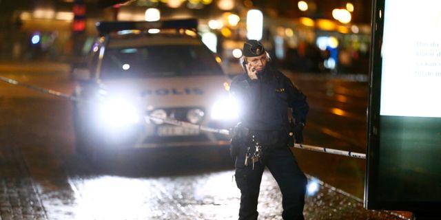16 oktober 2016. Polisen på plats efter en skottlossning i centrala Göteborg. THOMAS JOHANSSON/TT / TT NYHETSBYRÅN