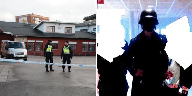 Polis utanför Kronan skolan i Trollhättan/ Anton Lundin Petterson TT