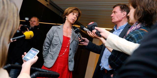 Unni Jerndal, presschef på Swedbank Claudio Bresciani / TT / TT NYHETSBYRÅN