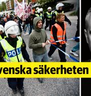 Polisen under övning i att hantera en miljödemonstration/Erik Lewin. TT och Mattias Bardå.