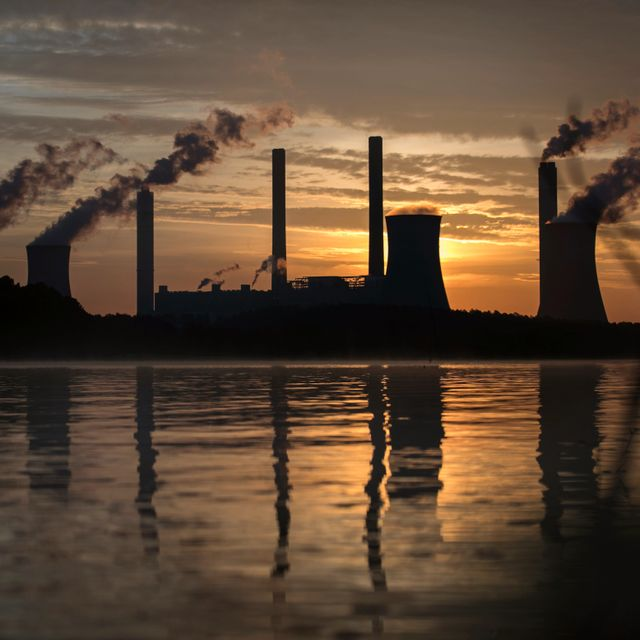 In this Saturday, June, 3, 2017 file photo, the coal-fired Plant Scherer, one of the nation's top carbon dioxide emitters, stands in the distance in Juliette, Ga. Branden Camp / TT NYHETSBYRÅN