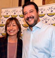Donatella Tesei och Matteo Salvini. Matteo Crocchioni / TT NYHETSBYRÅN