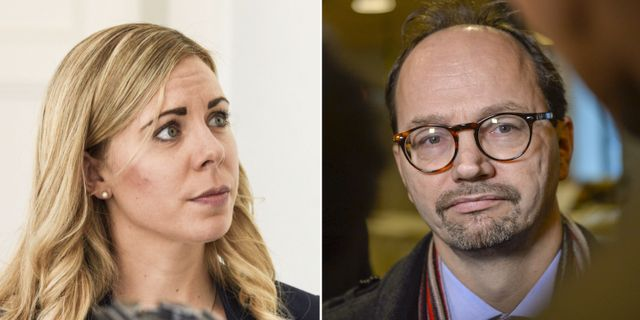 Moderaternas trafikpolitiska talesperson Jessica Rosencrantz/Infrastrukturminister Tomas Eneroth (S).  TT