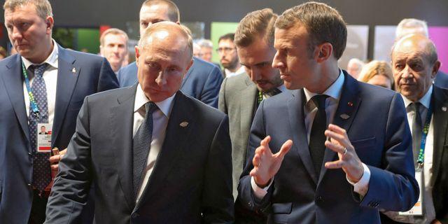 Arkivbild på Putin och Macron Mikhail Klimentyev / TT NYHETSBYRÅN
