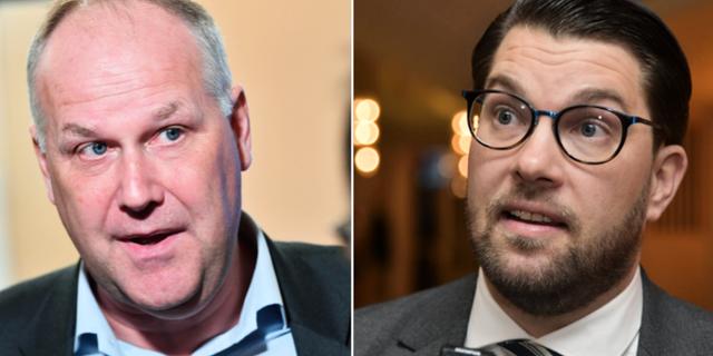 Jonas Sjöstedt/Jimmie Åkesson. TT