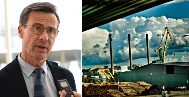 Ulf Kristersson, oljekraftverket i Karlshamn. TT