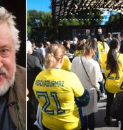 Leif GW Persson och Durmazmanifestastation.  Bildbyrån.