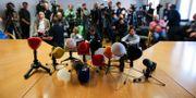Bild från presskonferens där dopningshärvan avslöjades.  DANIEL GOETZHABER / BILDBYRÅN