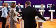Bild från partiledardebatten i SVT:s Agenda inför EU-valet i maj. Henrik Montgomery/TT / TT NYHETSBYRÅN