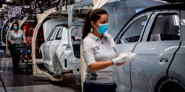 Volkswagen-fabrik. CARLOS COSTA / TT NYHETSBYRÅN