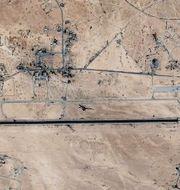Flygbasen sedd från ovan. Google Earth