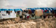 IS-läger i Syrien. Arkivbild. Maya Alleruzzo / TT NYHETSBYRÅN