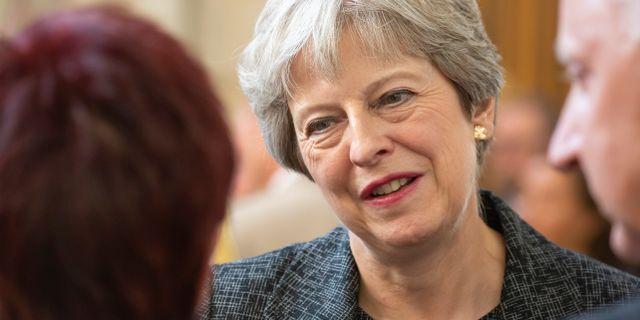 Premiärminister Theresa May.  Sebastien Courdji / TT NYHETSBYRÅN/ NTB Scanpix