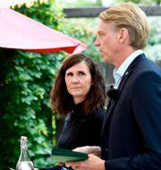 Märta Stenevi och Per Bolund.  Pontus Lundahl/TT / TT NYHETSBYRÅN