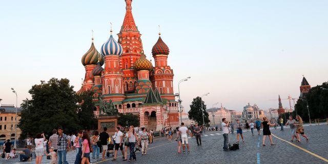 Röda torget i Moskva. Lise Åserud / TT NYHETSBYRÅN