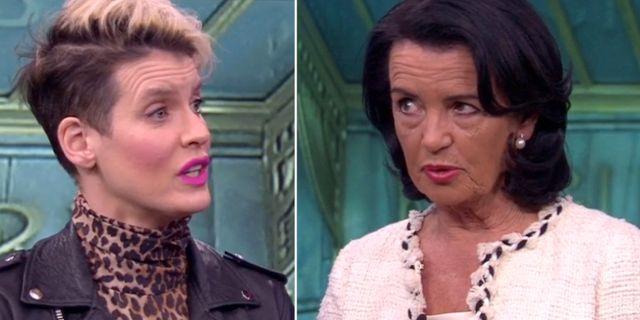 Nina Rung och Anne Ramberg i Aktuellt-stud SVT