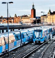 Illustrationsbild. Tunnelbanan i Stockholm. Tomas Oneborg/SvD/TT / TT NYHETSBYRÅN