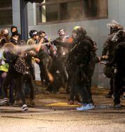 Protesterna i Portland. TT