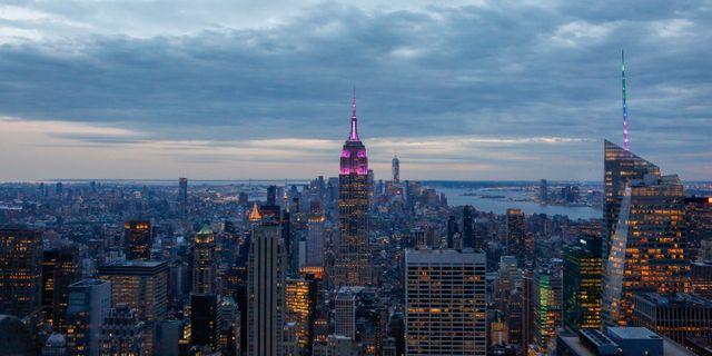 Vy över Manhattan.  Løvland, Marianne / TT NYHETSBYRÅN