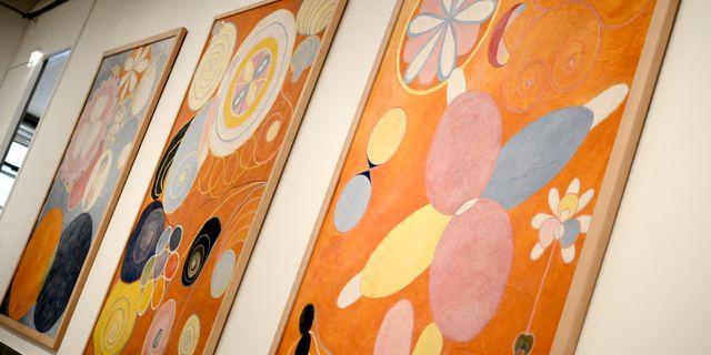 Arkivbild från Hilma af Klint-utställning i Stockholm. PONTUS LUNDAHL / TT / TT NYHETSBYRÅN