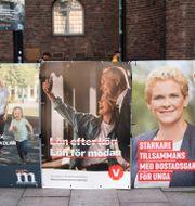 Valaffischer i Stockholm Henrik Montgomery/TT / TT NYHETSBYRÅN