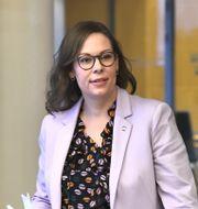 Maria Malmer Stenergard, migration- och socialförsäkringspolitisk talesperson för Moderaterna. Claudio Bresciani/TT / TT NYHETSBYRÅN