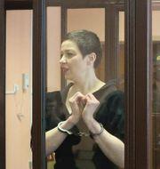 Maria Kolesnikova i domstolen i Minsk.  Ramil Nasibulin / TT NYHETSBYRÅN